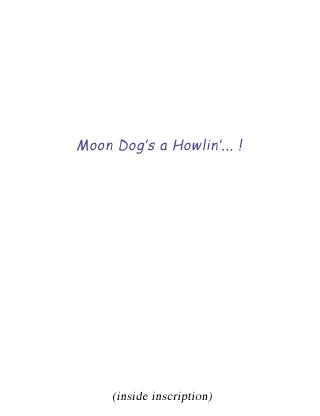 Moon Dog inscription
