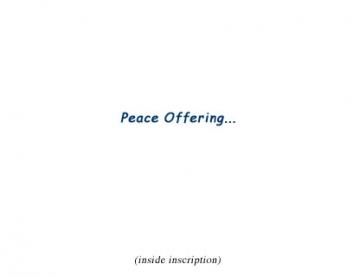 Peace Offering inscription