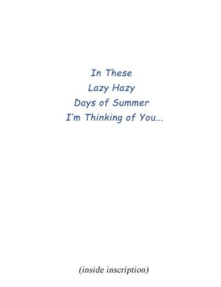 Summer Breeze inscription